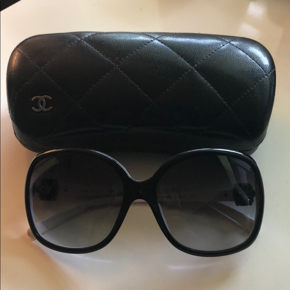 CHANEL Accessories - Chanel Sunglasses Oversized Square B&W